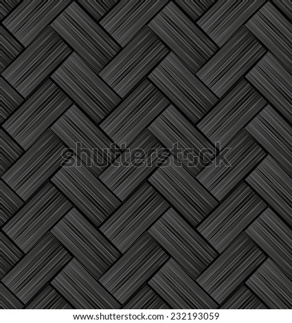 interlaced pattern seamless or dark background - stock vector