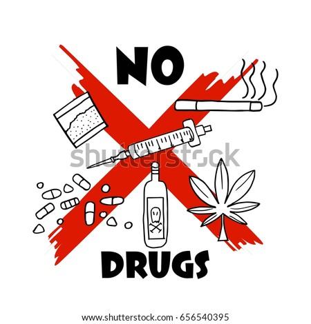 international anti drug day stock vector 656540386