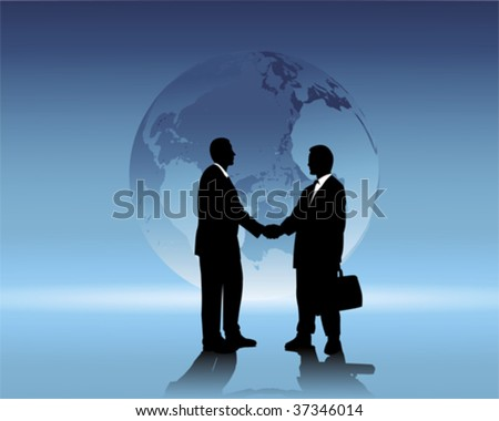 international business - stock vector