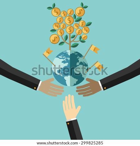 Success businessman being thrown air flat stock vector 394175818 shutterstock - Successful flower growing business ...