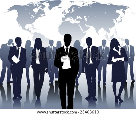 international company - stock vector