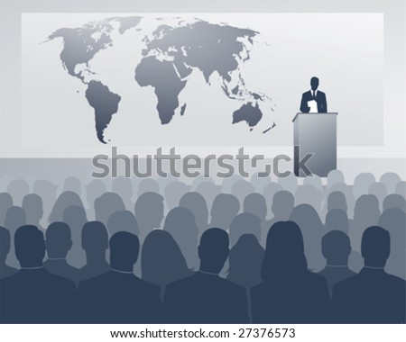 international congress - stock vector