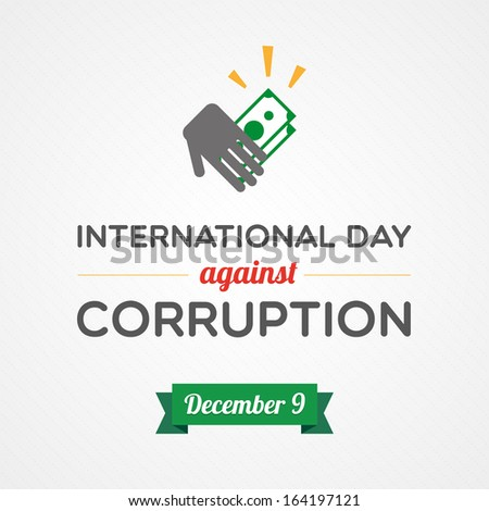 International Day Against Corruption - stock vector