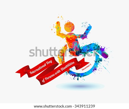 International Day of Persons with Disabilities - December 3 - stock vector