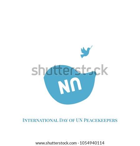 International Day Un Peacekeepers Vector Illustration Stock Vector