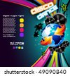 International Disco Event Background with Musical Design elements - stock vector