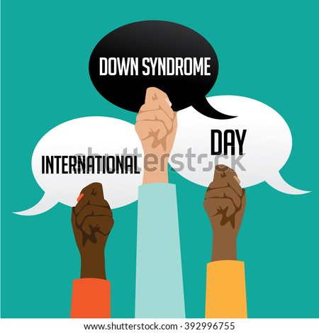International Down Syndrome Day design. EPS 10 vector.