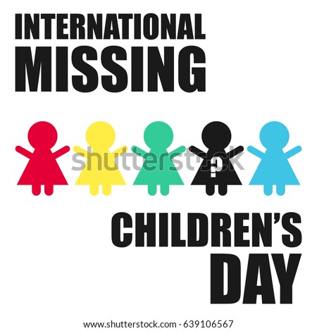 International Missing Childrens Day Suitable Banner Stock ...