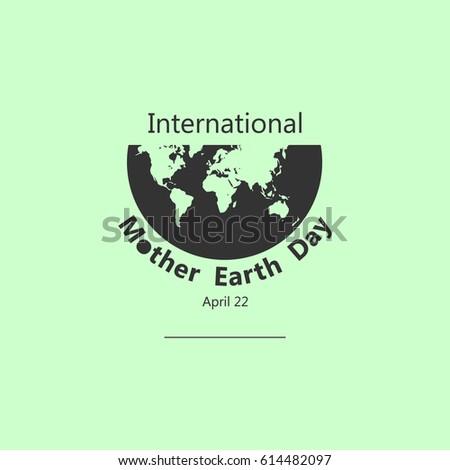 International Mother Earth Day Logo Vector Stock Vector 2018