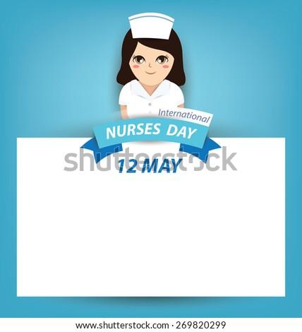 International nurse day concept - stock vector