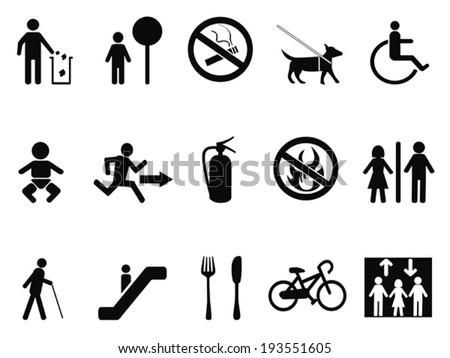 international service symbols - stock vector