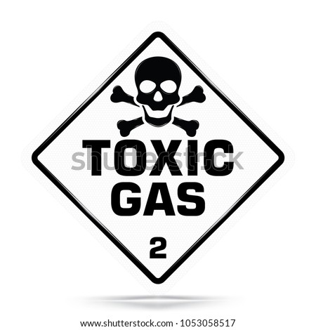International Toxic Gas Class 2 Symbol White Stock Vector 1053058517