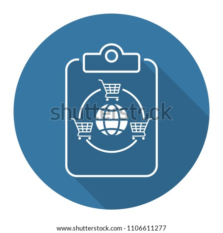 International Trade Agreement Icon Stock Vector 1106611277