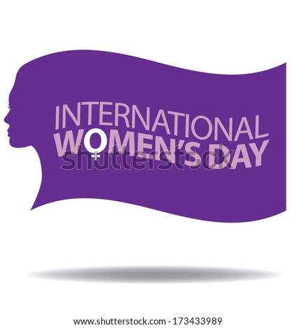 International Women'Â?Â?s Day Icon. EPS 10 vector, grouped for easy editing. No open shapes or paths.