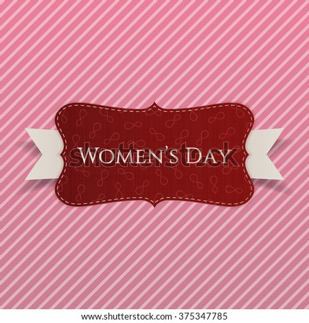 International Womens Day red greeting Card