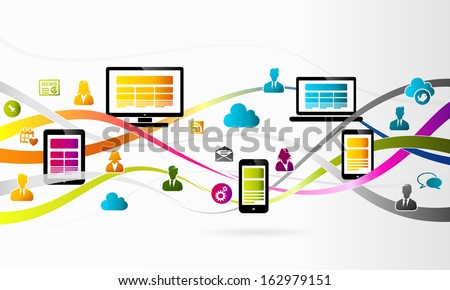 Internet - stock vector