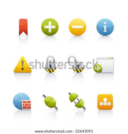 Internet and Communication Icon Set for multiple application in Adobe Illustrator EPS 8. - stock vector