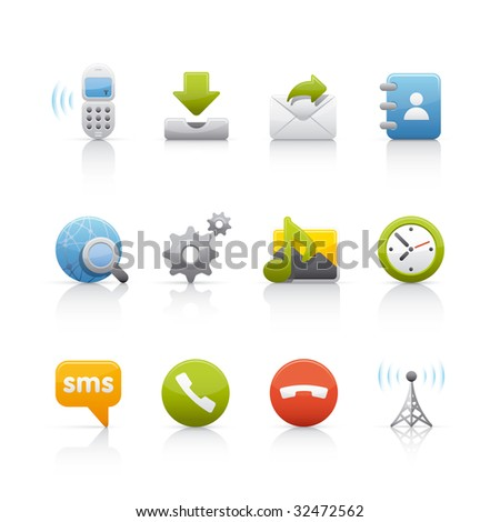 Internet and Communications Icon Set - stock vector