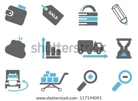 Internet and website icons - stock vector