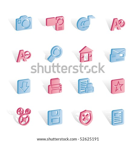 Internet and Website icons  Vector Icon Set - stock vector
