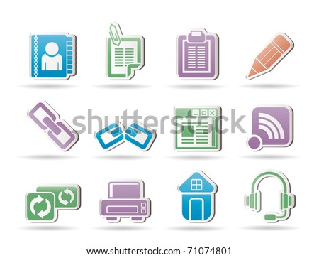 internet and website objects - vector illustration - stock vector