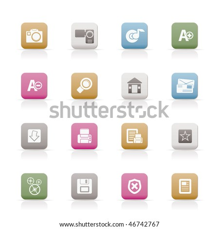 Internet and Website Vector Icon Set - stock vector