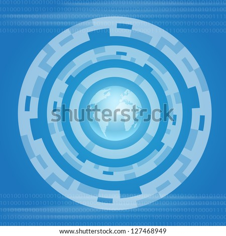 Internet and World symbol. EPS10 vector. - stock vector