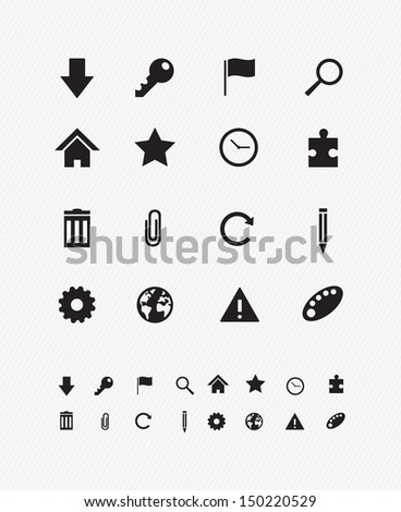 Internet browsers Icon set 1 - stock vector