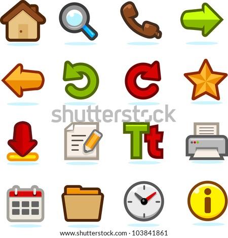 Internet Browsing Icon Set - stock vector