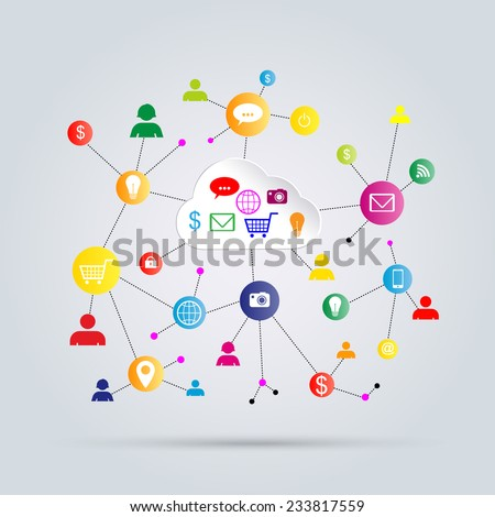 Internet business abstract concept - stock vector