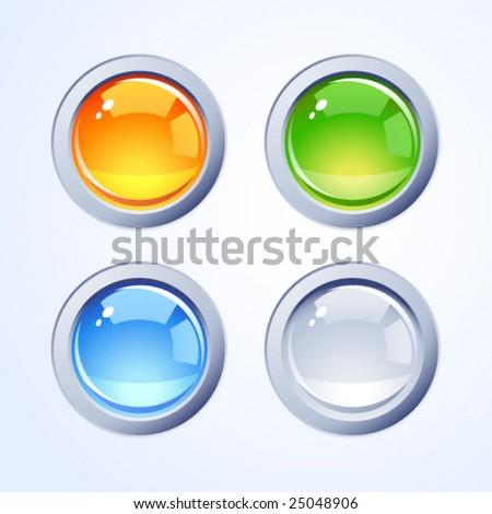 Internet buttons - stock vector