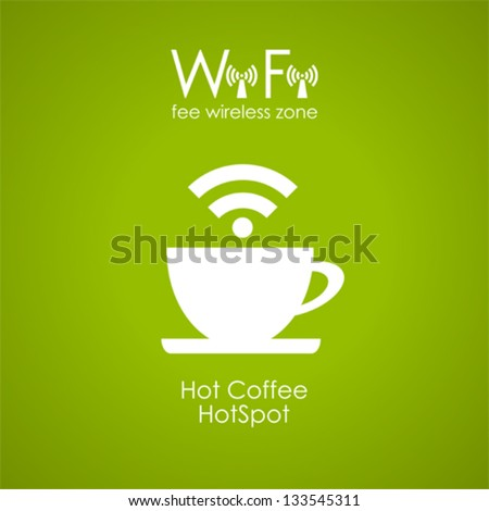Internet cafe poster design, vector illustration - stock vector