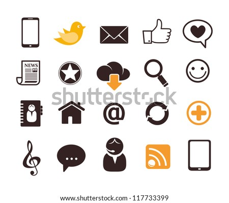 Internet communication icons
