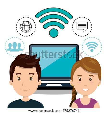 internet communication technology isolated icon vector illustration design