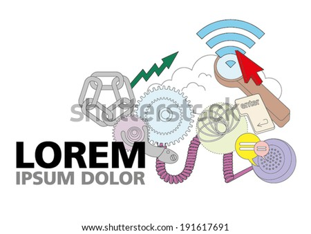 Internet Communications - stock vector