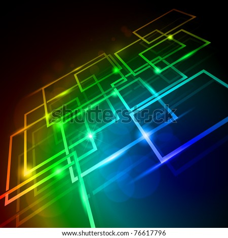 Internet concept, communication, technology-style background. Abstract illustration for design - stock vector