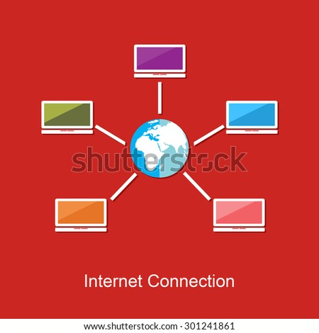 Internet connection concept illustration.  - stock vector