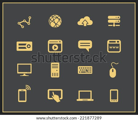 Internet devices. Network connections. Vector illustration - stock vector
