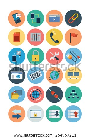 Internet Flat Icons - Vol 3 - stock vector