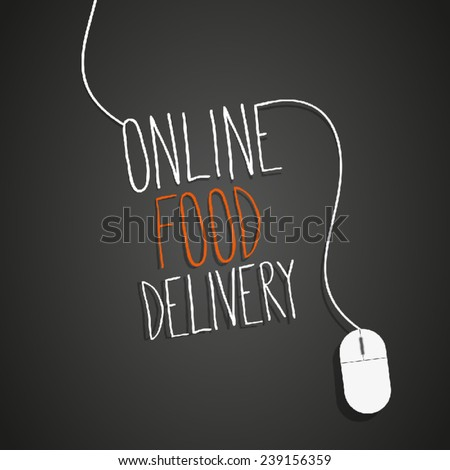 internet food delivery - stock vector