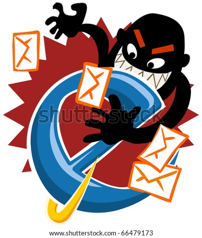 Internet Hack, security on the web. Vector Illustration. - stock vector