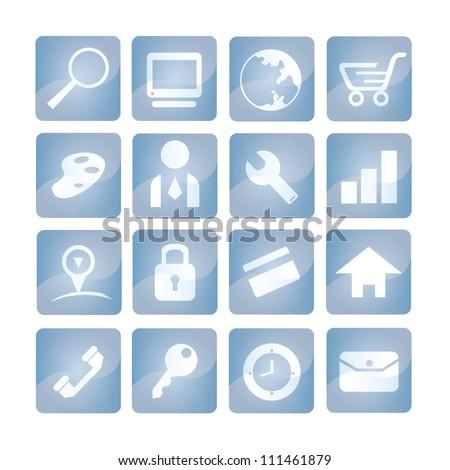 internet icon set - stock vector