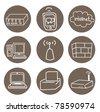 internet icon vector - stock vector