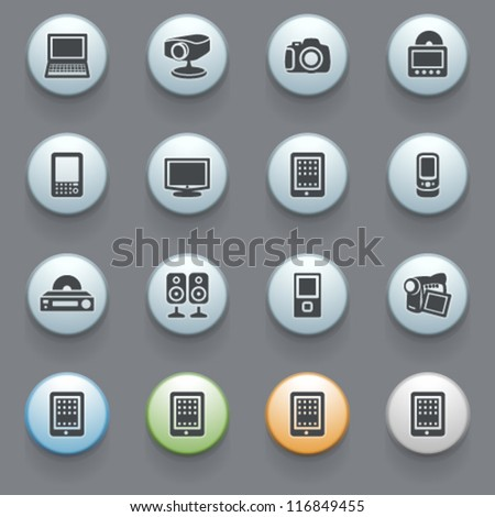 Internet icons for web site, set 8. - stock vector