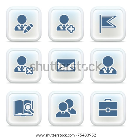 Internet icons on buttons 1 - stock vector