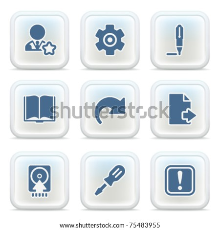 Internet icons on buttons 6 - stock vector