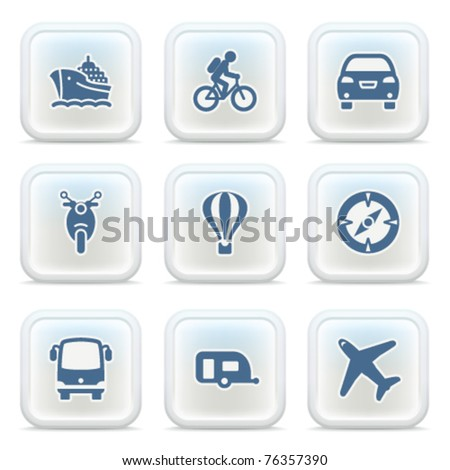 Internet icons on buttons 33 - stock vector