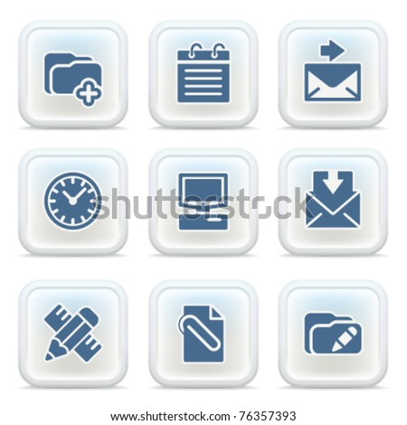 Internet icons on buttons 27 - stock vector