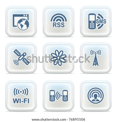 Internet icons on buttons 30 - stock vector