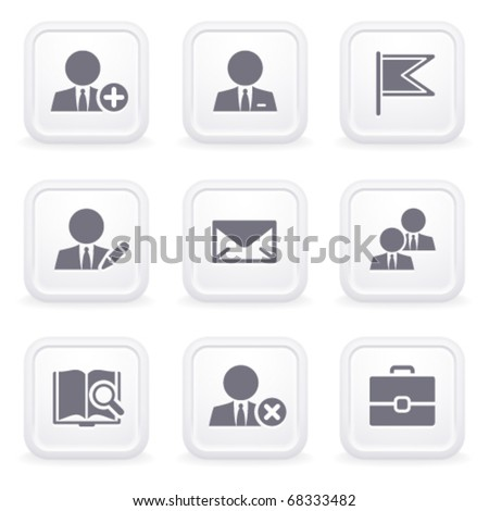 Internet icons on gray buttons 1 - stock vector
